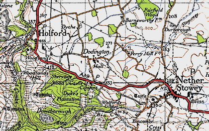 Old map of Dodington in 1946
