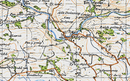 Old map of Allt Dolanog in 1947