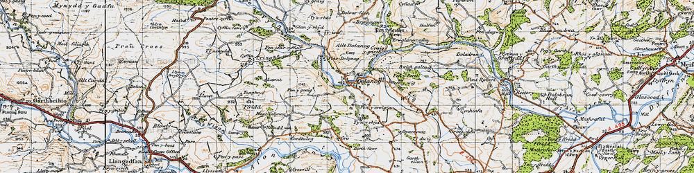 Old map of Allt Dolanog in 1947