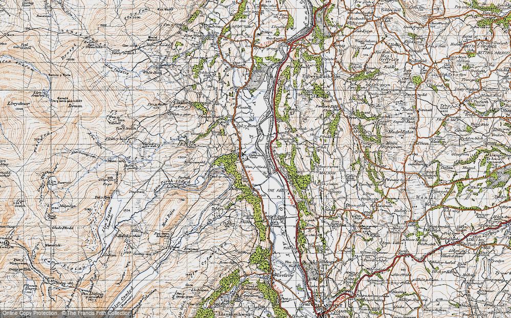 Old Map of Dolgarrog, 1947 in 1947