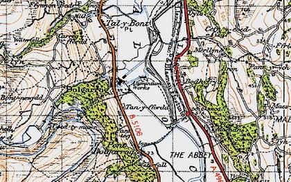 Old map of Dolgarrog in 1947
