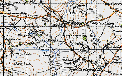 Old map of Alltmaen in 1947