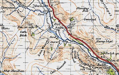 Old map of Banc Dolhelfa in 1947