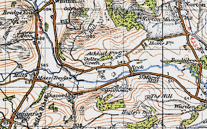 Old map of St Mary's Mill in 1947