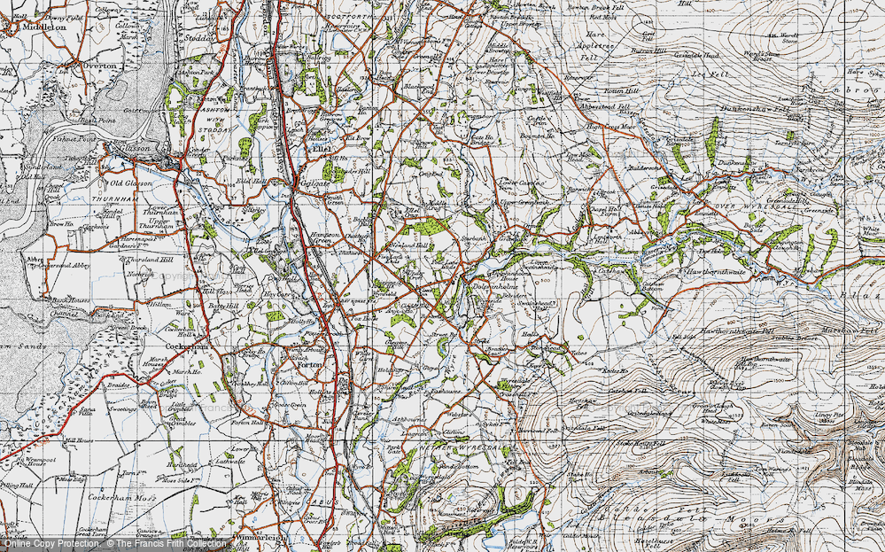 Old Map of Dolphinholme, 1947 in 1947