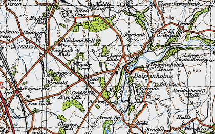 Old map of Dolphinholme in 1947