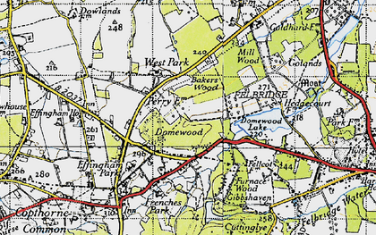 Old map of Baker's Wood in 1946