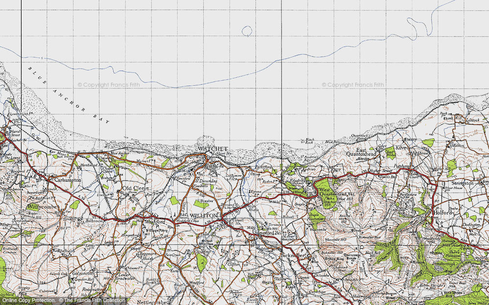 Old Map of Doniford, 1946 in 1946