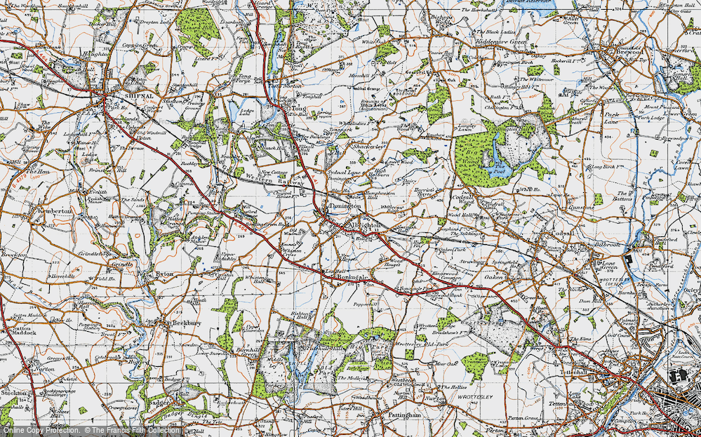 Old Map of Donington, 1946 in 1946