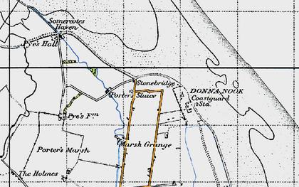 Old map of Laramie in 1946