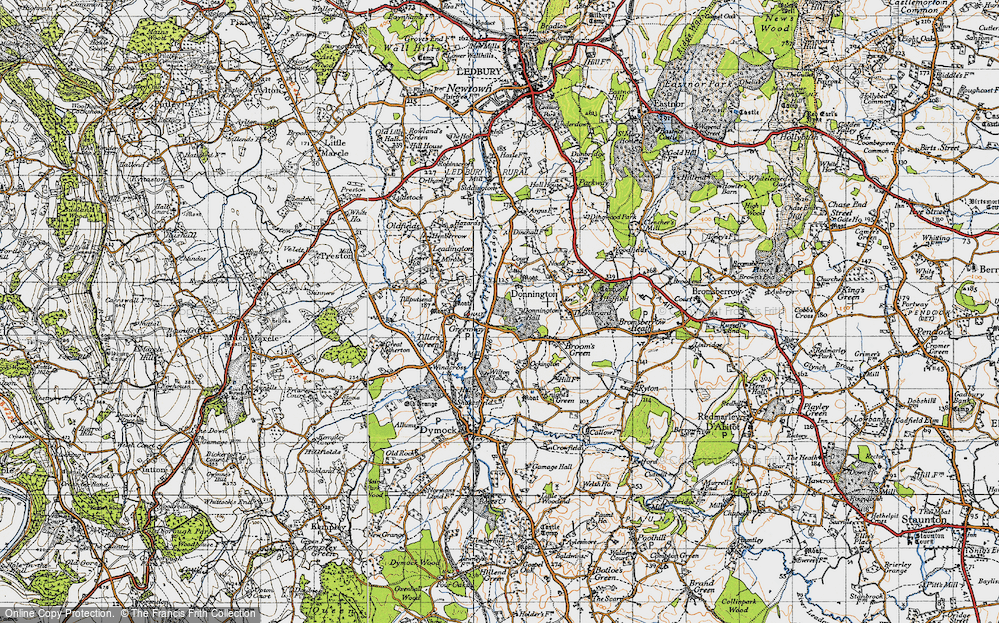 Old Map of Historic Map covering Tillputsend Cott in 1947