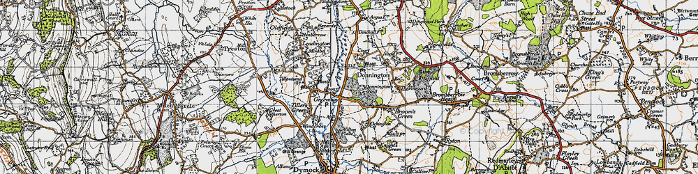 Old map of Tillputsend Cott in 1947