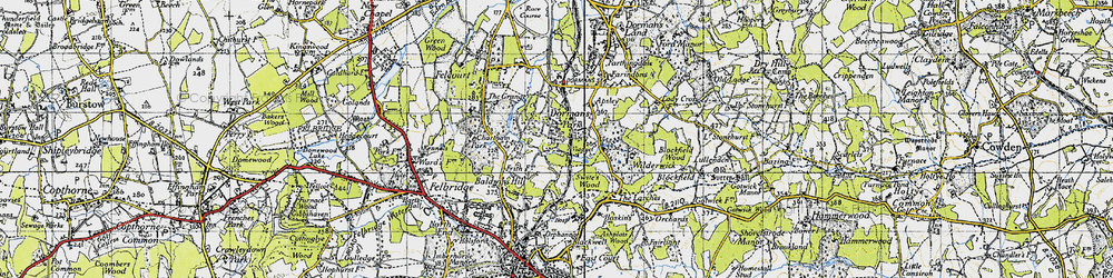 Old map of Wilderwick Ho in 1946
