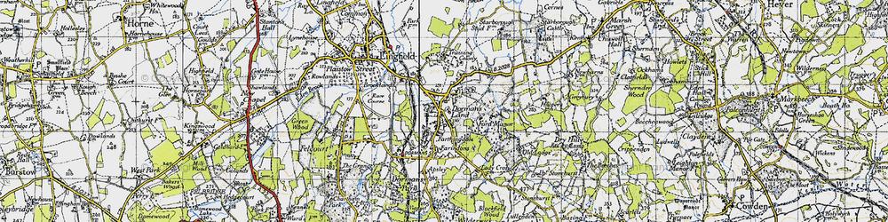 Old map of Dormansland in 1946