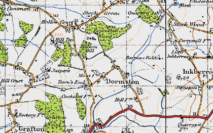 Old map of Ballom Hill in 1947