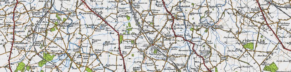 Old map of Dorridge in 1947