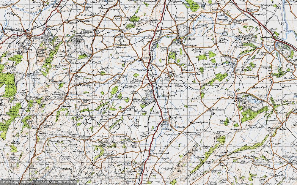 Old Map of Dorrington, 1947 in 1947