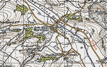 Old map of Arthur's Stone (Burial Chamber) in 1947