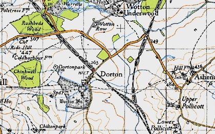 Old map of Ashfold School in 1946