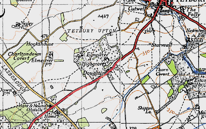 Old map of Doughton in 1946