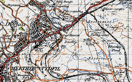Old map of Twyn y Waun in 1947