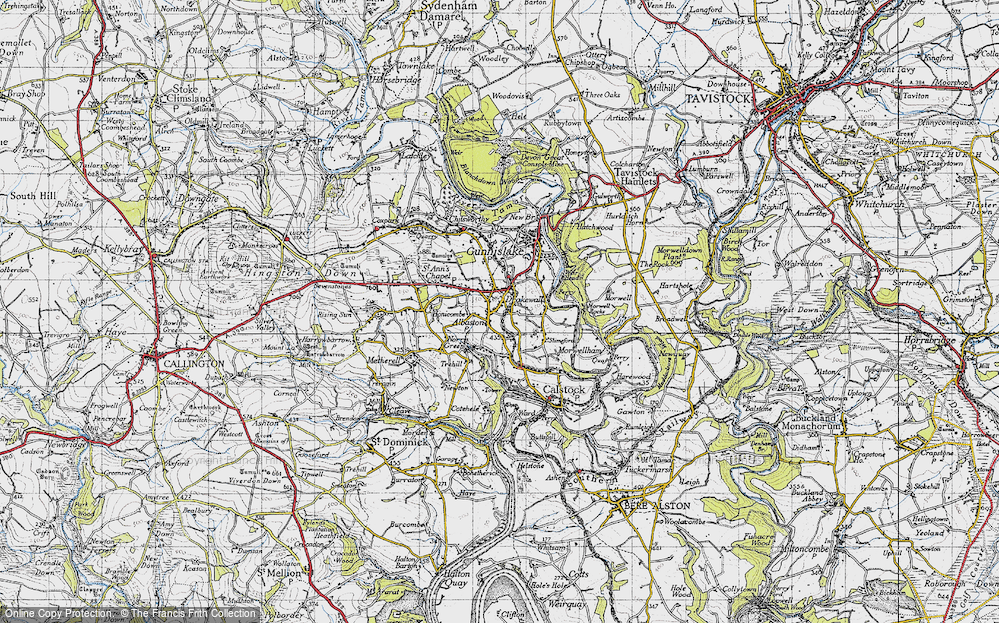 Old Map of Historic Map covering Albaston in 1946