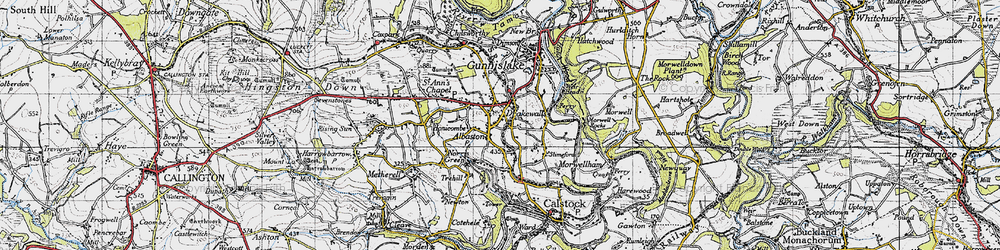 Old map of Albaston in 1946