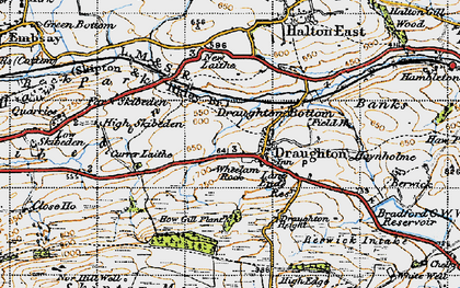 Old map of Wheelam Rock in 1947