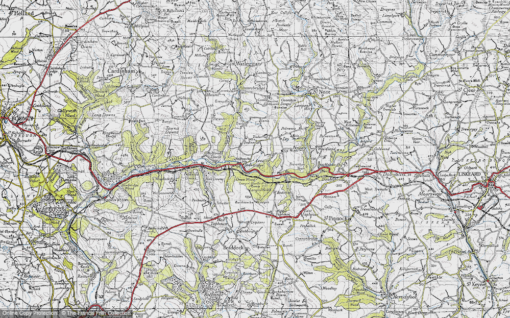 Old Map of Historic Map covering Largin Wood in 1946