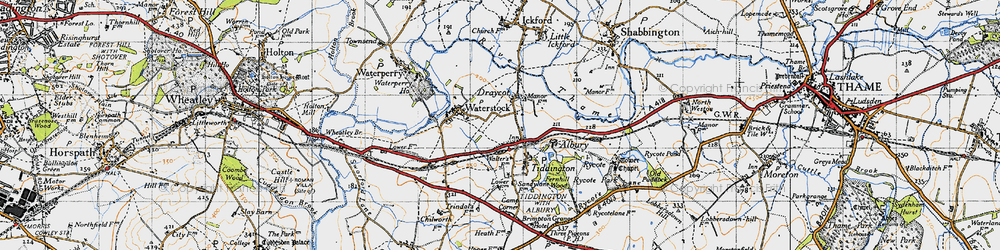 Old map of Albury in 1947