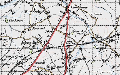 Old map of Draycott in 1946
