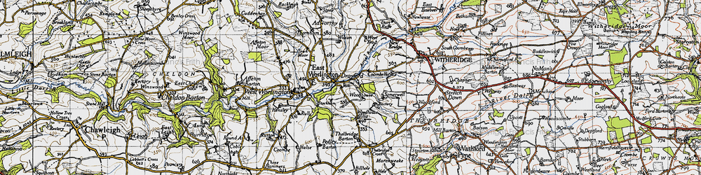 Old map of West Yeo in 1946