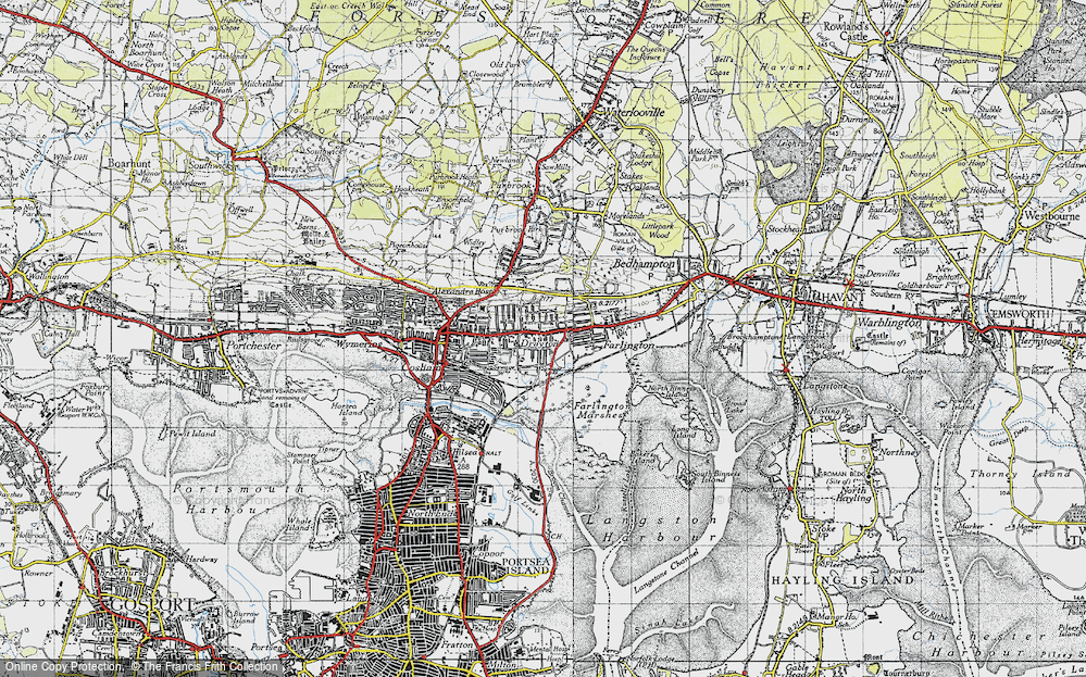 Old Map of Drayton, 1945 in 1945