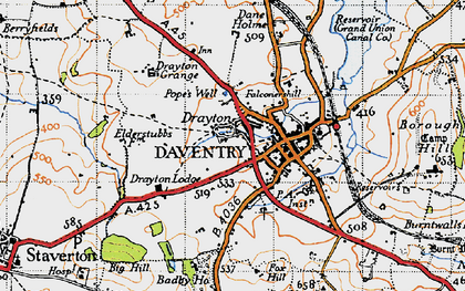 Old map of Badby Fields in 1946