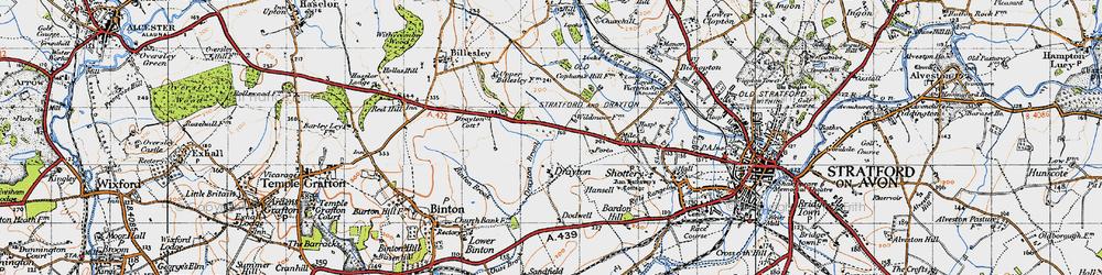 Old map of Wildmoor, The in 1947