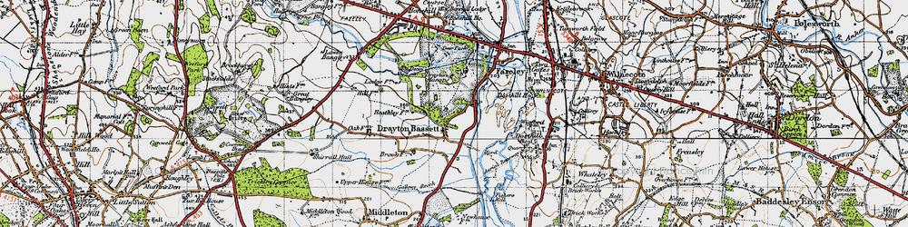 Old map of Drayton Bassett in 1946