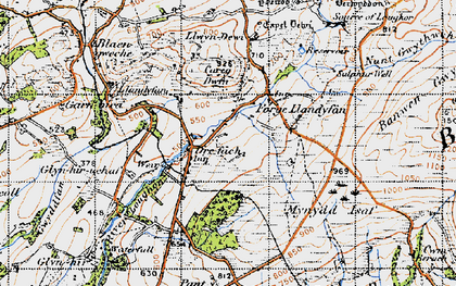 Old map of Afon Llwchwr in 1947