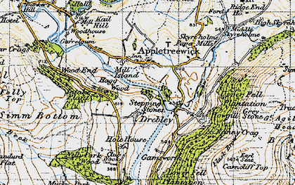 Old map of Barden Br in 1947