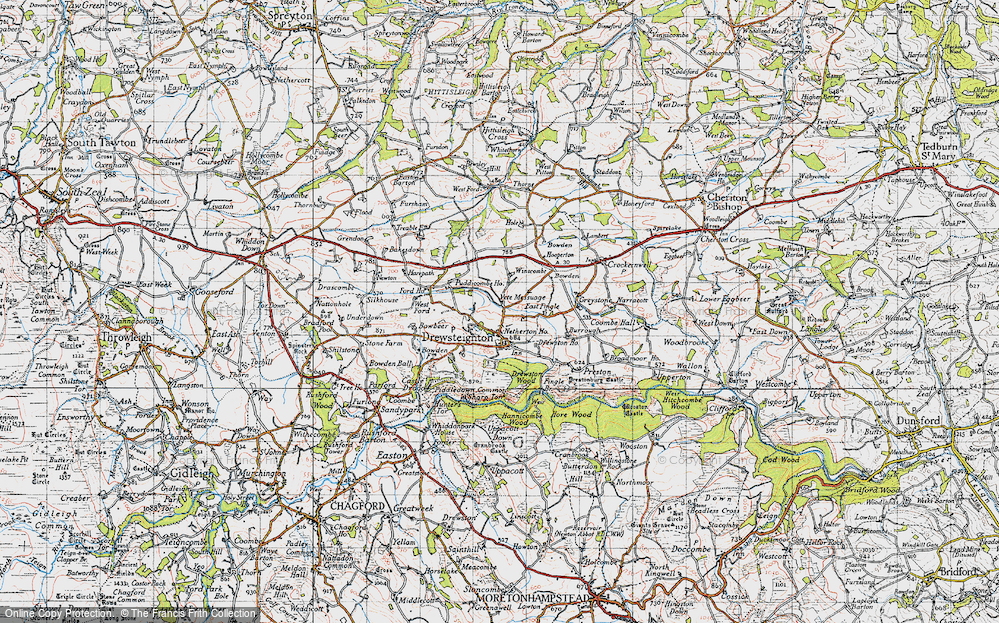Old Map of Historic Map covering Bakesdown in 1946