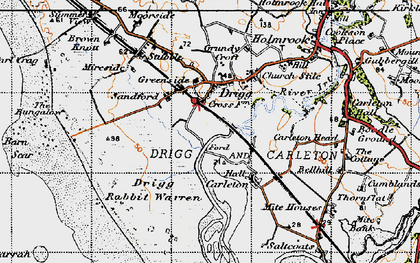 Old map of Drigg in 1947