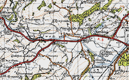 Old map of Druid in 1947