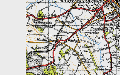Old map of Westhill in 1947