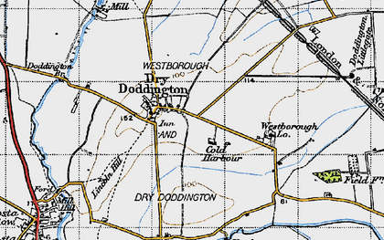 Old map of Westborough Gate Lodge in 1946