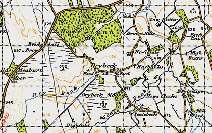 Old map of Wraes, The in 1947