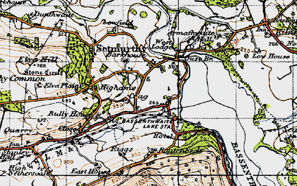 Old map of Barkhouse in 1947