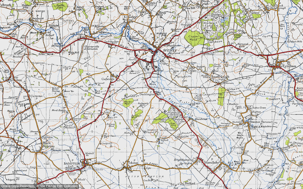 Old Map of Ducklington, 1946 in 1946