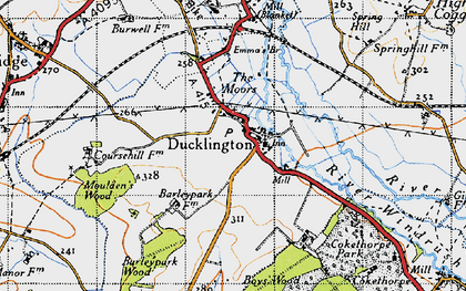 Old map of Ducklington in 1946