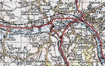 Old map of Dudbridge in 1946