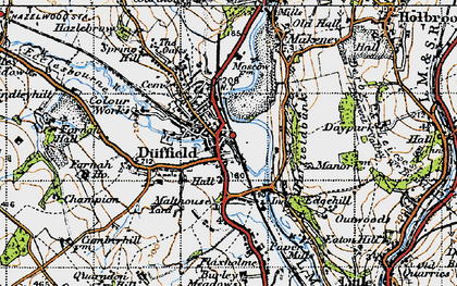 Old map of Duffield in 1946