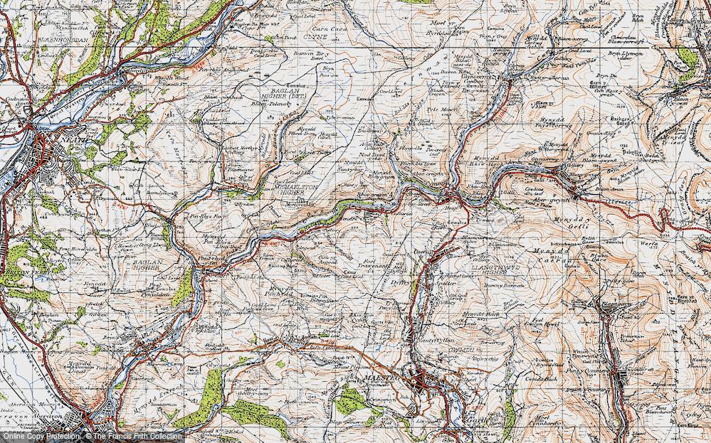 Old Map of Duffryn, 1947 in 1947